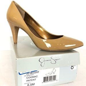 Jessica Simpson // sz 8.5 patent leather nude heel